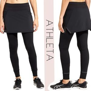 Athleta Black leggings & skirt attached Size XL